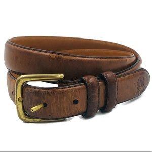 Tommy Hilfiger Brown Leather Belt HX125-200 Sz 34